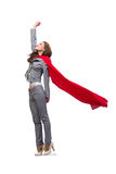 The young superwoman isolated on white Stock Photography