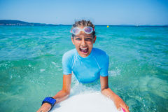 Young surfer girl Stock Photo