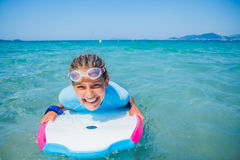 Young surfer girl Royalty Free Stock Images