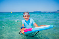 Young surfer girl Royalty Free Stock Image