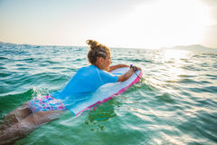 Young surfer girl Stock Photography