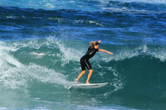 Young Surfer in Southport, Australia. Young Surfer in Southport Gold Coast, Queensland Australia Stock Photos