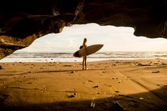 Surfing all day long. royalty free stock photography