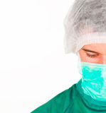 Young surgeon looking down Stock Photography