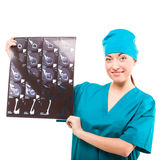 Young surgeon with x-ray. studio Stock Photo