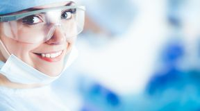 Young surgery team in the operating room.  Royalty Free Stock Photos