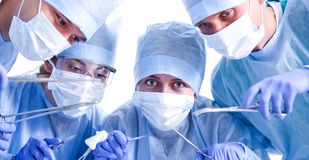 Young surgery team in the operating room.  Royalty Free Stock Image