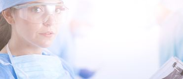 Young surgery team in the operating room . Operating room.  Royalty Free Stock Photography