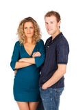 Young surprised couple. Royalty Free Stock Photos