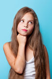 Young surprised girl royalty free stock photos