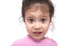 Young surprised girl over the white background Stock Photography
