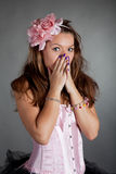 Young surprised girl Stock Photos