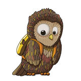 Young surprised owl character cartoon illustration, EPS10 Royalty Free Stock Image