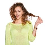 Young surprised woman Stock Image