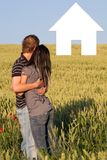 A young sweet couple in love Royalty Free Stock Photography
