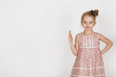Young sweet girl. Six years old girl posing in the studio Stock Photography