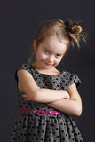 Young sweet girl. Six years old girl posing in the studio Royalty Free Stock Photos
