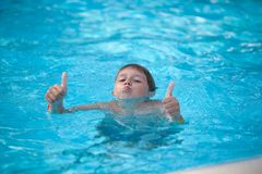 Young swimmer Stock Photography