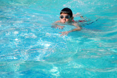 Young swimmer Stock Images
