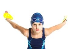 Young swimmer girl Royalty Free Stock Image
