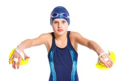 Young swimmer girl Royalty Free Stock Photography