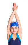 Young swimmer girl Stock Images