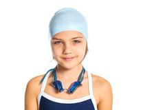 Young swimmer girl Stock Photos