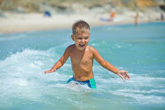 Young swimming boy Royalty Free Stock Photo