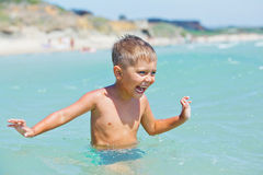 Young swimming boy Stock Photo