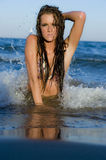 Young Swimsuit Female Model. A gorgeous young swimsuit model on a sunny day Stock Images