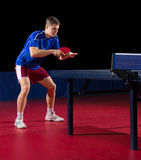Young table tennis player Stock Image