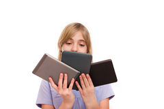 Young tablet expert Stock Images