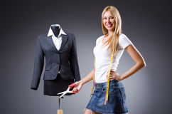 Young tailor Stock Images