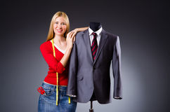 Young tailor Stock Image