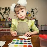 Young talent in a kindergarten Royalty Free Stock Images