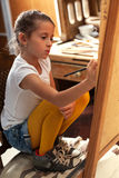 Young talented girl artist Stock Photography