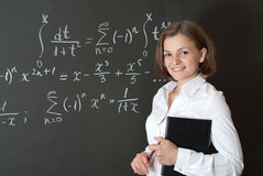 Young teacher Stock Photo
