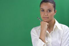 Young teacher royalty free stock photo