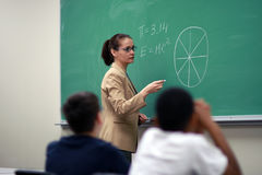 Young Teacher stock photography