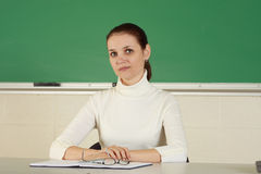 Young teacher Stock Image