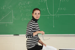 Young teacher royalty free stock photography