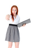 Young Teacher or business woman Stock Photo