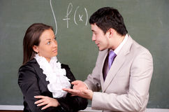 Young teacher and student Stock Photos