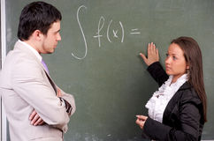 Young teacher and student Stock Images