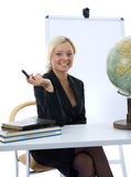 Young teacher will teach geography Stock Photo