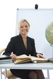 Young teacher will teach geography Stock Photography