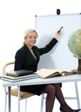 Young teacher will teach geography Stock Image