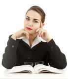 Young teacher woman with book Royalty Free Stock Images
