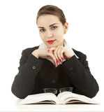 Young teacher woman with book Royalty Free Stock Image