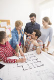 Young team of architects Stock Photos